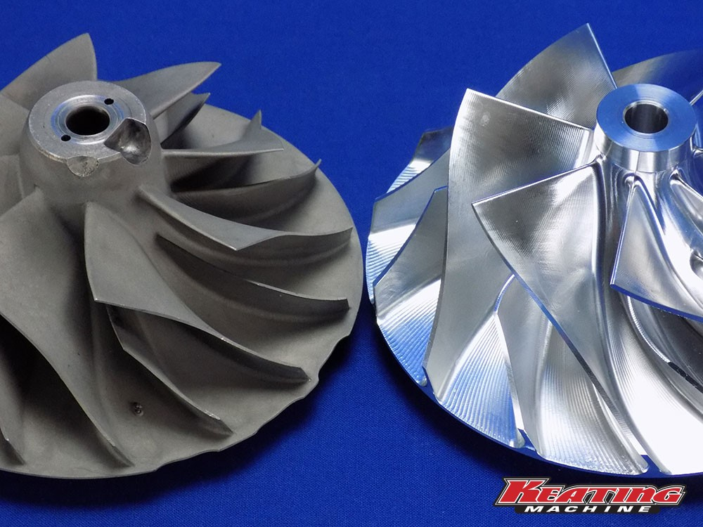 "3 9"" X 5 55"" Billet Compressor Wheel HX82, HC5A, HX80, HX85"
