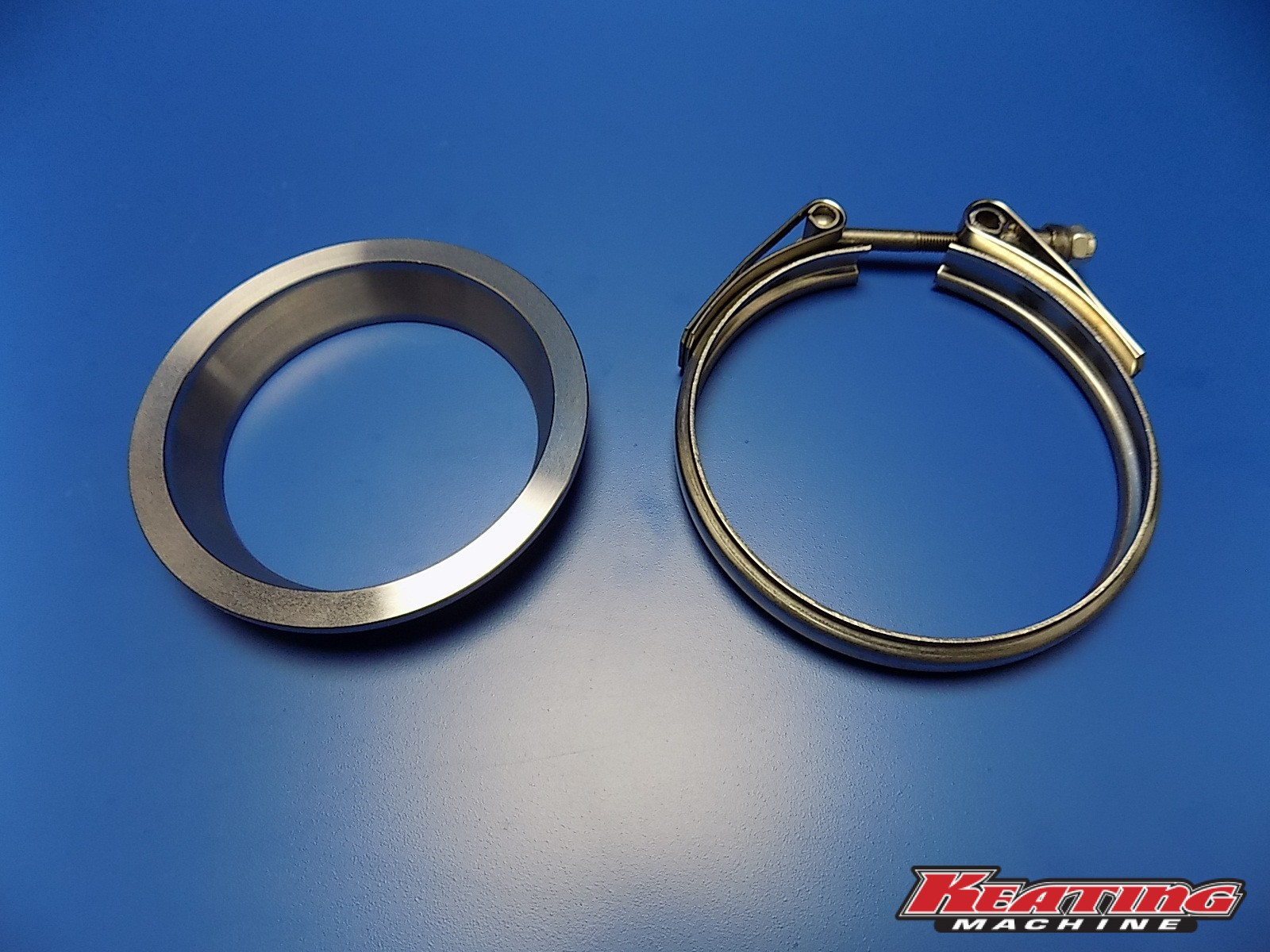 HE351 Down Pipe Exhaust V-Band Flange & Clamp - Keating ...