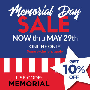 Get 10% off during Memorial Day Sale